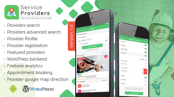 Listingo – Service Providers, Business Finder Android Native App