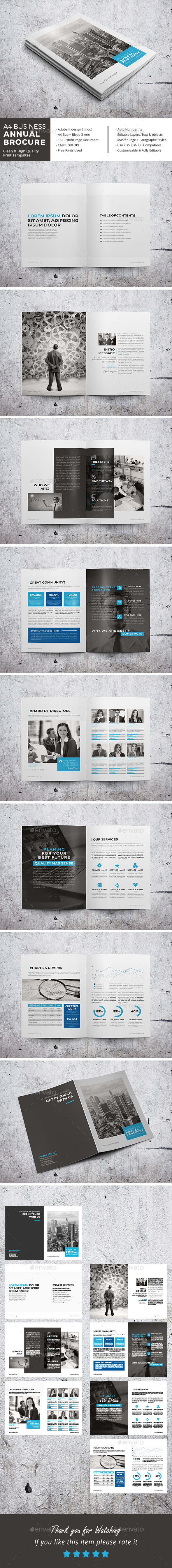 A4 Business Annual Brochure - Corporate Brochures