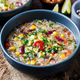 Vegetable quinoa soup stew with avocado corn beans - PhotoDune Item for Sale