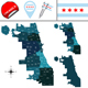 Map of Chicago with Community Areas - GraphicRiver Item for Sale
