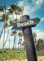 Retro Beach Sign In Hawaii - PhotoDune Item for Sale