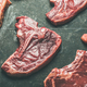 Raw beef meat steak cuts over black background - PhotoDune Item for Sale