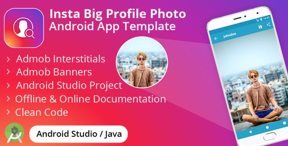 Insta Big Profile Photo - Admob Banner + Interstitial