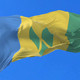 Flag of Saint Vincent and the Grenadines Waving - VideoHive Item for Sale