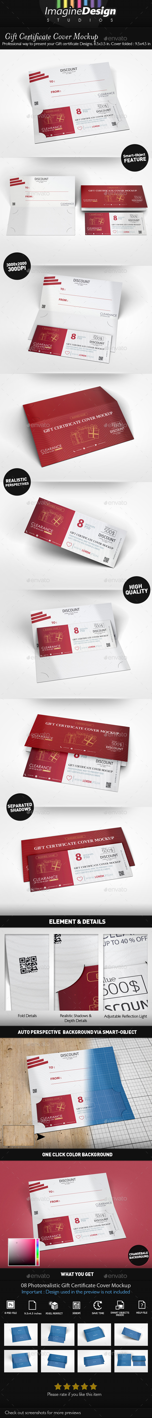 Gift Certificate Cover Mock-up - Miscellaneous Print