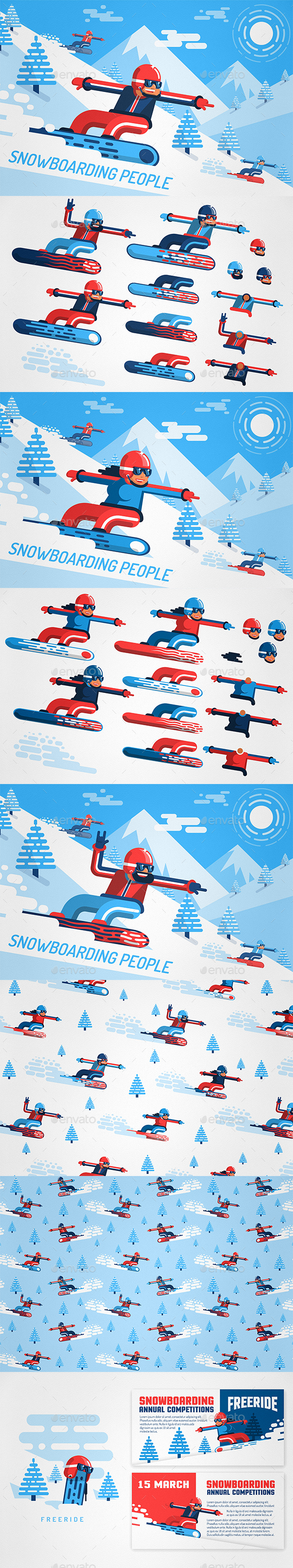 Snowboarding People - Sports/Activity Conceptual