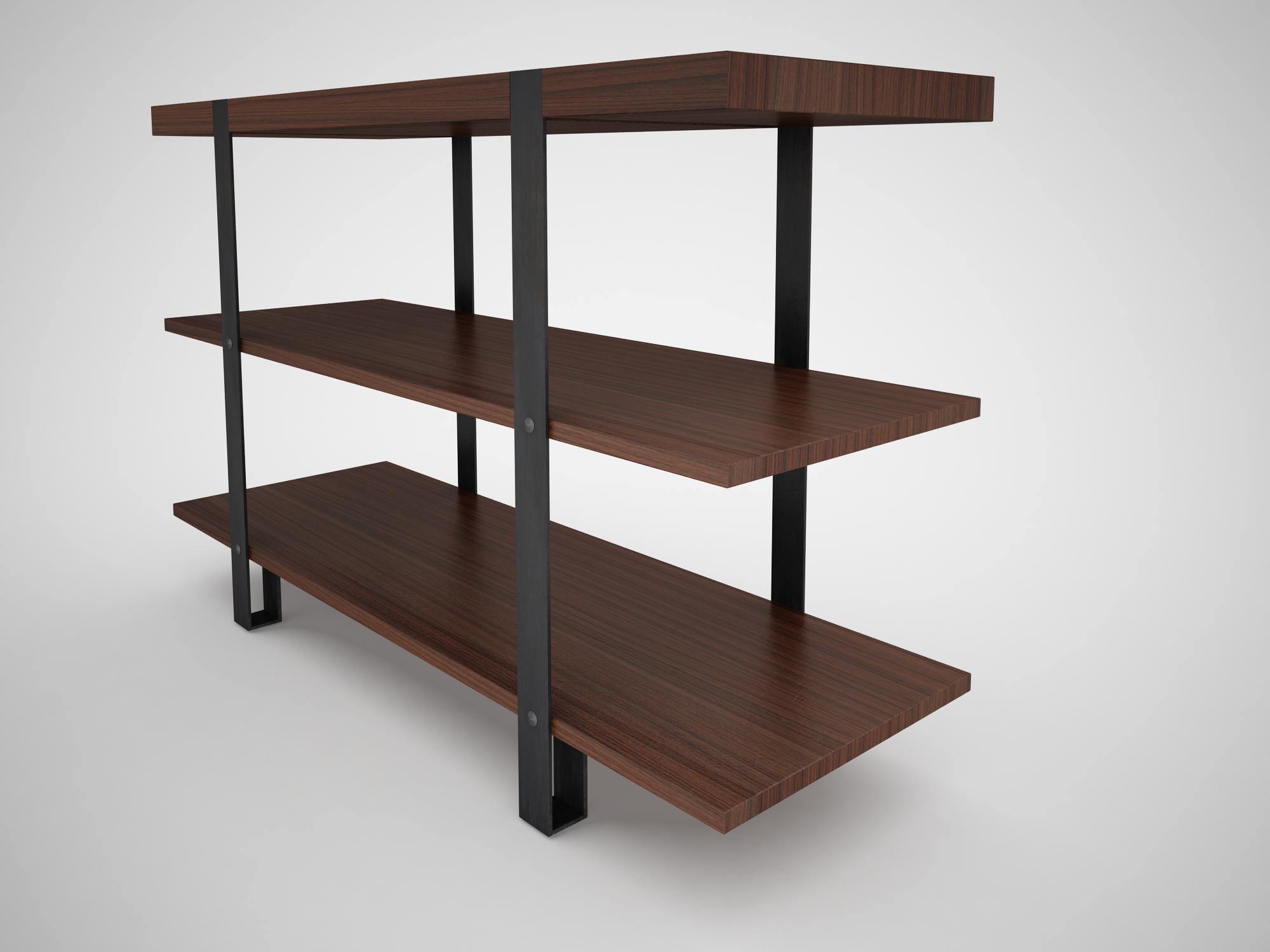 industrial steel pipe shelves and marley sofa table by rigel46 3docean rh 3docean net