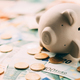 Piggy moneybox with euro cash - PhotoDune Item for Sale