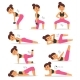 Fitness Woman Sport Exercise Vector Character - GraphicRiver Item for Sale