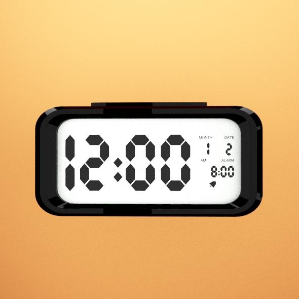 E-clock - 3DOcean Item for Sale