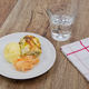 Leek lasagna and potato mash on a table - PhotoDune Item for Sale