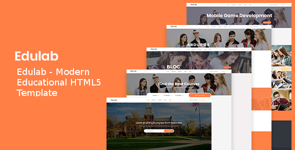 Edulab - Modern Educational HTML5 Template