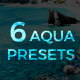 6 Lightroom Presets - Aqua Pack