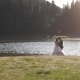 Young Couple Dancing on the Lake, Holding Hands - VideoHive Item for Sale
