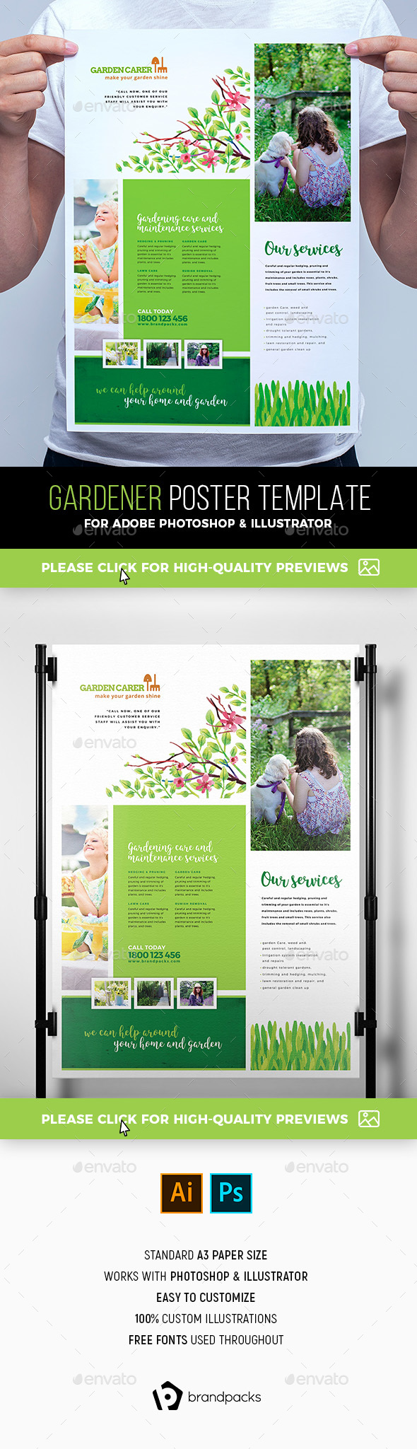 Gardener Poster Template - Corporate Flyers