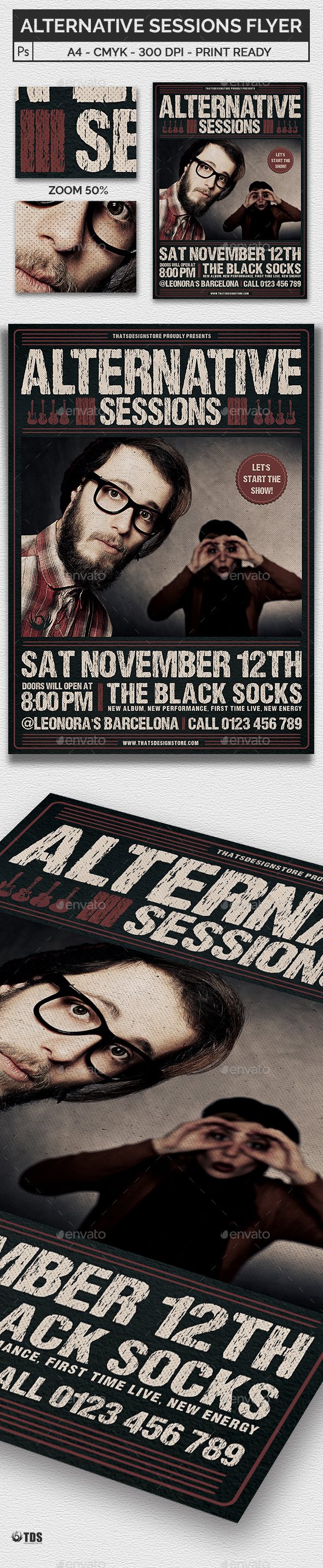 Alternative Sessions Flyer Template - Concerts Events
