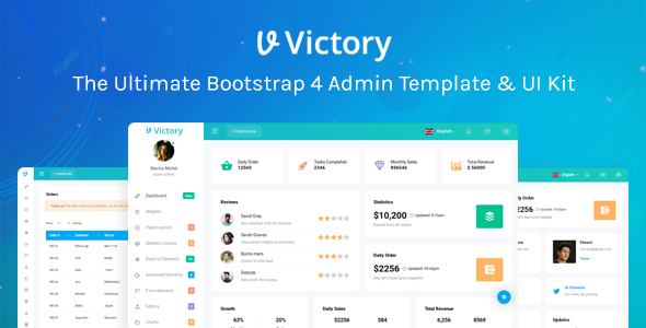 Victory Bootstrap 4 Admin Template - Admin Templates Site Templates