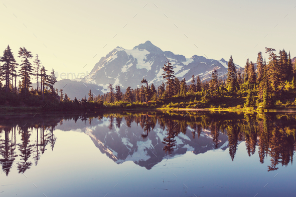Picture lake - Stock Photo - Images