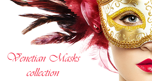 Woman in Venetian mask