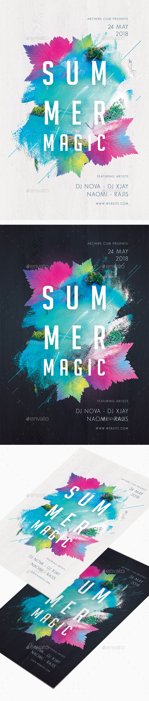 Summer Magic Party Flyer - Clubs & Parties Events