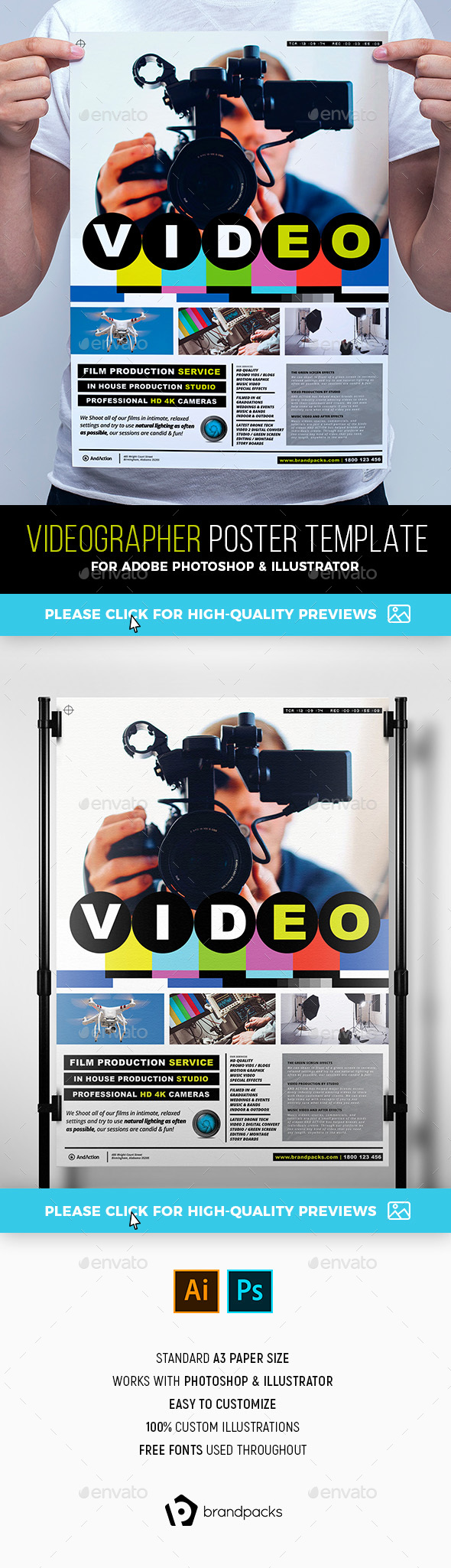Videographer Poster Template - Corporate Flyers