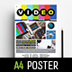 A4 Videographer Advertisement / Poster Template