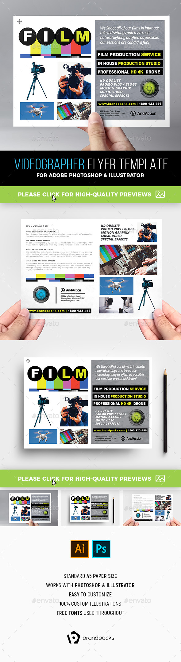 Videographer Flyer Template - Corporate Flyers