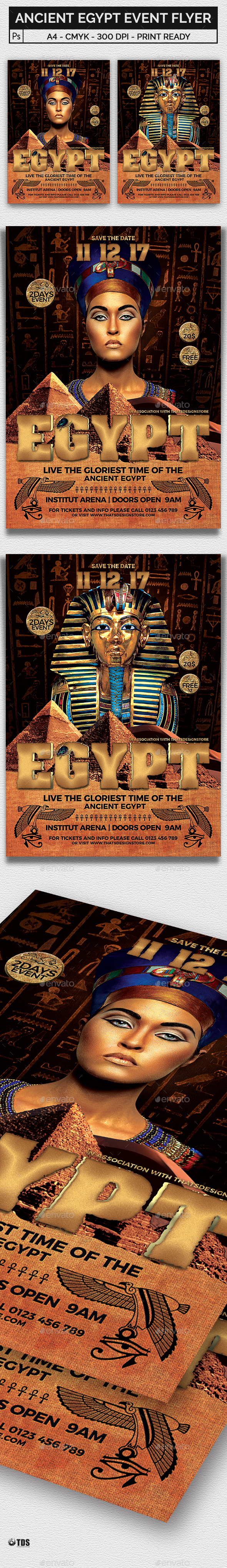 Ancient Egypt Event Flyer Template - Miscellaneous Events
