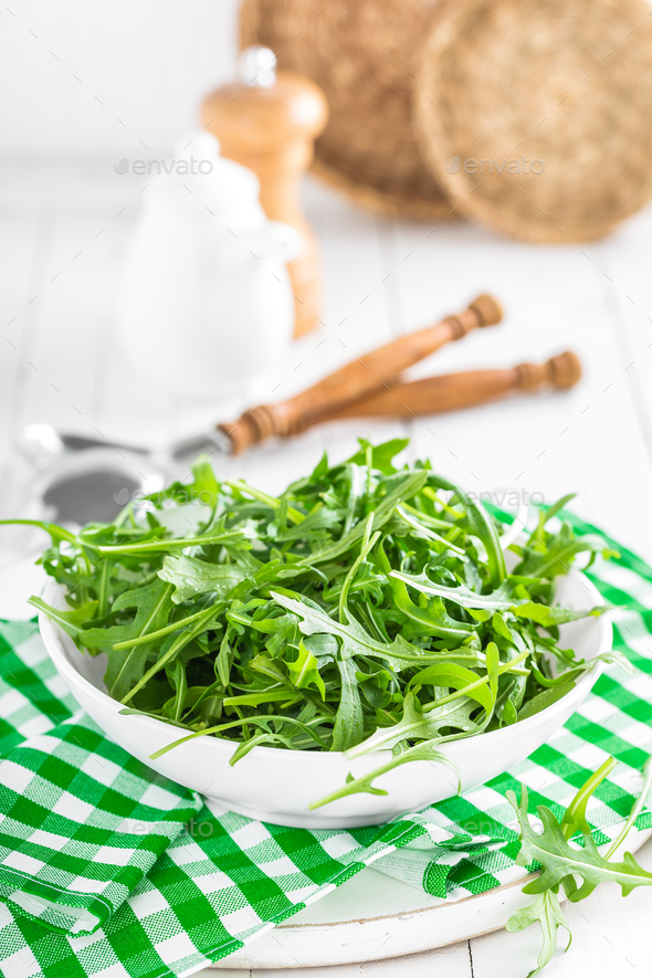 Arugula leaves, rucola - Stock Photo - Images