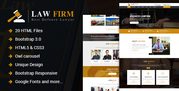 Law Firm - Responsive Law Firm HTML Template - Business Corporate