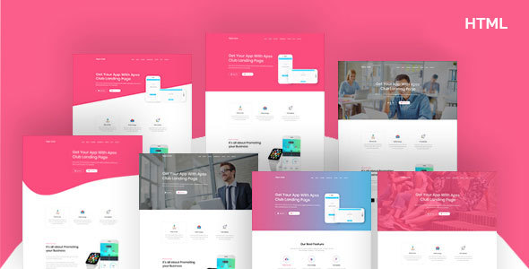 AppsClub – App Landing Page HTML5 Template - Corporate Site Templates