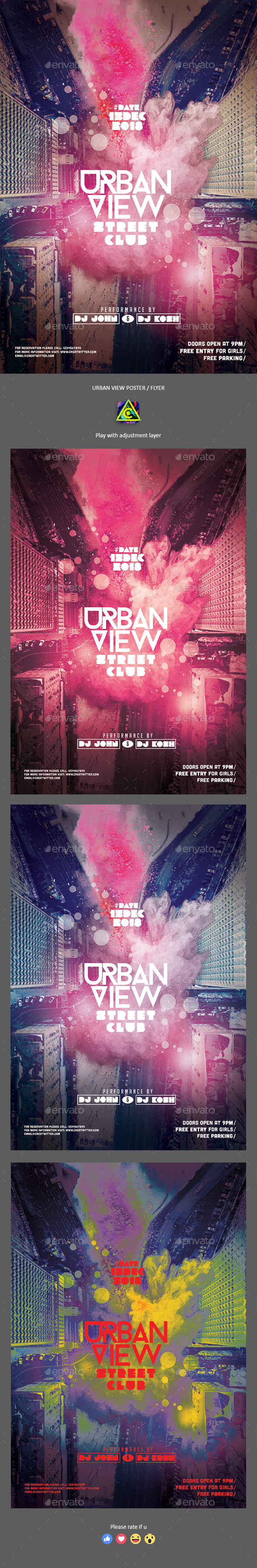 Urban View Poster / Flyer - Clubs & Parties Events