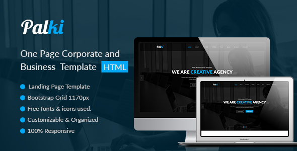 Palki One Page Corporate and Business Template