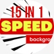 Speed Lines Background Pack. 15 in 1 - VideoHive Item for Sale