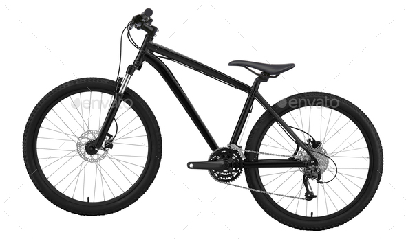 New bicycle isolated on a white background - Stock Photo - Images