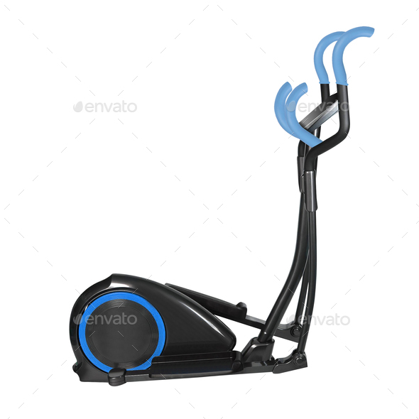 elliptical cross trainer isolated on a white background - Stock Photo - Images