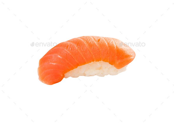 tuna sushi isolated on white background - Stock Photo - Images