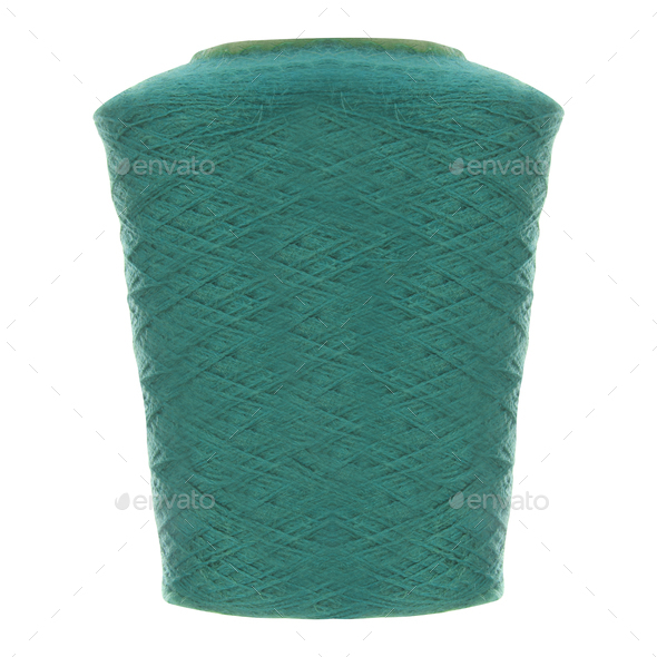 Roll of Twine isolated on a White Background - Stock Photo - Images