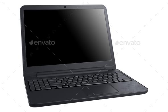 Laptop on white background - Stock Photo - Images