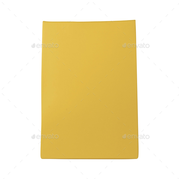 Yellow bag isolated - Stock Photo - Images