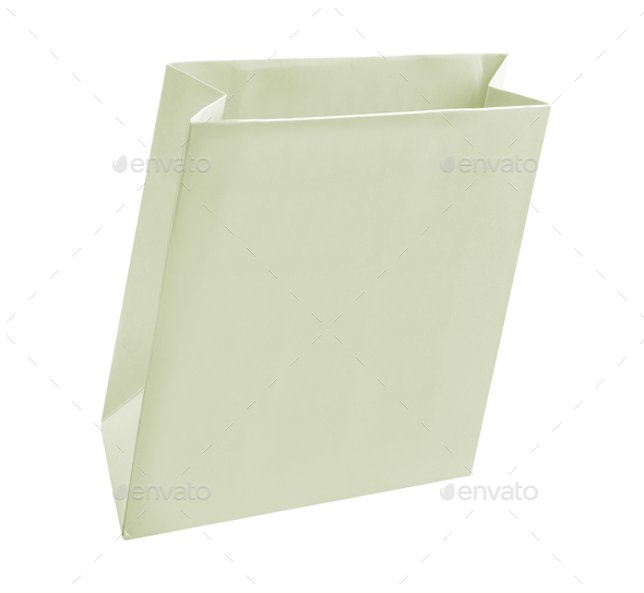 Paper Shopping Bag isolated on white - Stock Photo - Images