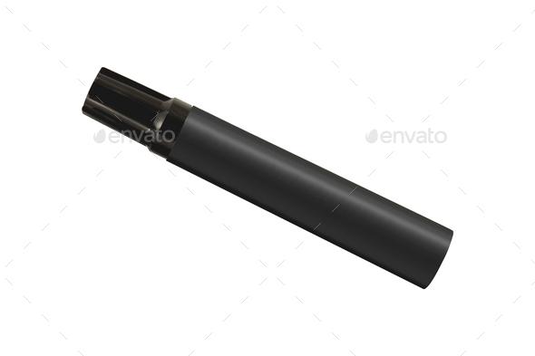 black marker isolated - Stock Photo - Images