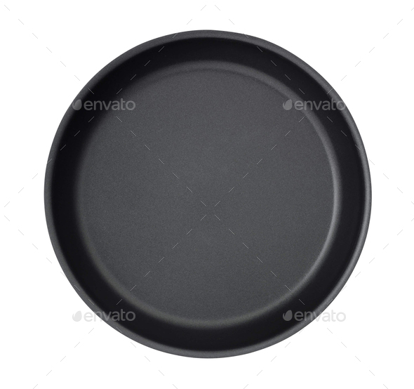 Frying pan isolated on white - Stock Photo - Images