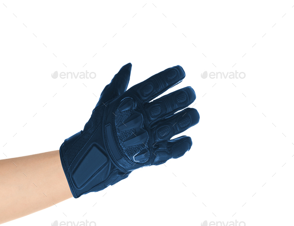 Men's leather gloves isolated - Stock Photo - Images