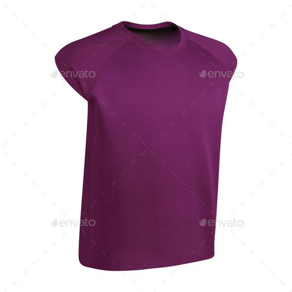 Purple tshirt isolated - Stock Photo - Images