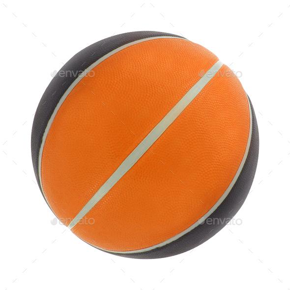 Orange basket ball, isolated - Stock Photo - Images