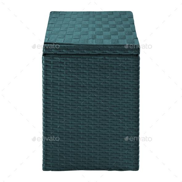 laundry basket isolated on white - Stock Photo - Images