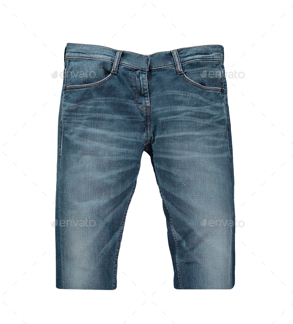 Male jeans shorts - Stock Photo - Images