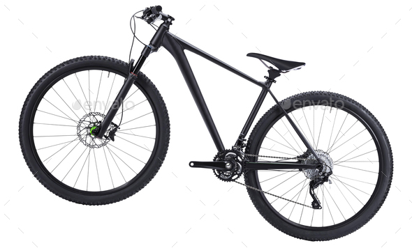mountain bike isolated on white background - Stock Photo - Images