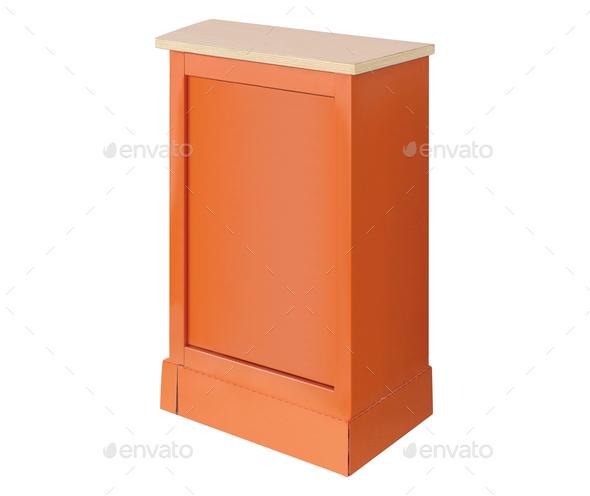 wooden podium isolated - Stock Photo - Images